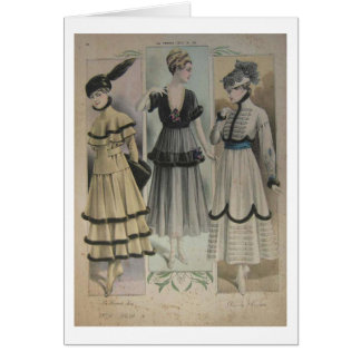 French Fashiion in 1910, Greeting Card