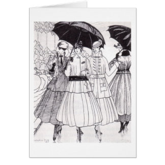 French Fashion in 1915, Greeting Card