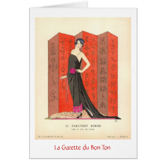 French Fashion Plate Card