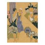 French Fashion - Purple and Black Postcard