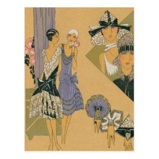 French Fashion - Purple and Black Postcard