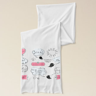 French Fashion Style Speech Bubbles Scarf