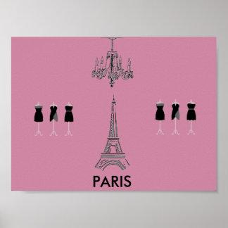 French Fashion Theme Paris Poster
