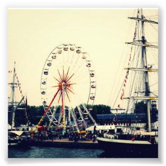 French Ferris Wheel Art Photo