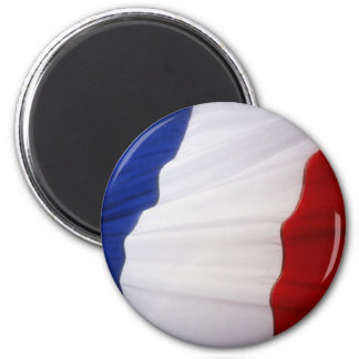 French Flag 2 Inch Round Magnet