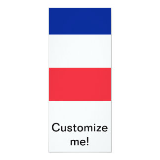 French Flag 4x9.25 Paper Invitation Card