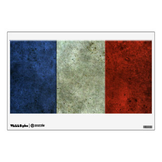 French Flag Aged Steel Effect Wall Sticker