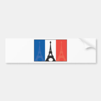French Flag and Eiffel Tower Bumper Sticker