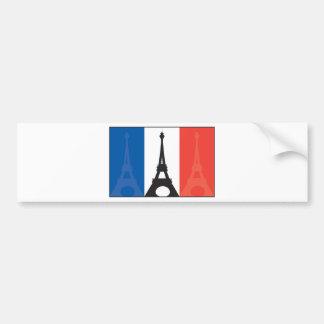 French Flag and Eiffel Tower Car Bumper Sticker