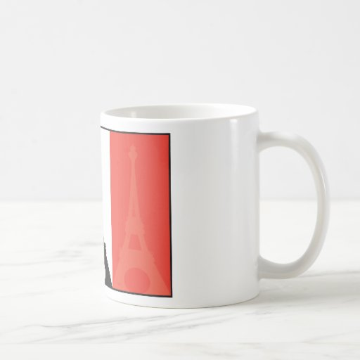 French Flag and Eiffel Tower Classic White Coffee Mug