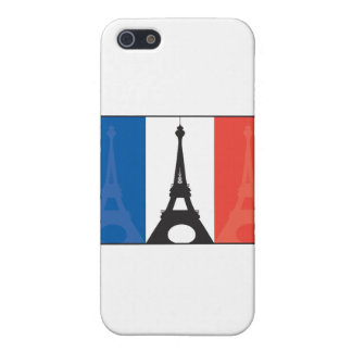 French Flag and Eiffel Tower Cover For iPhone SE/5/5s