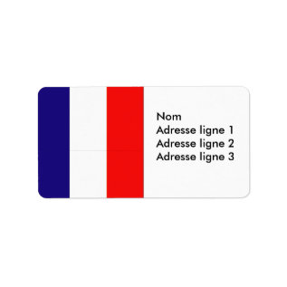 French Flag Avery Address Label Or Name Tag at Zazzle