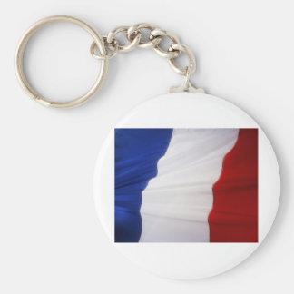 French Flag Basic Round Button Keychain