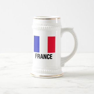 French Flag Beer Stein