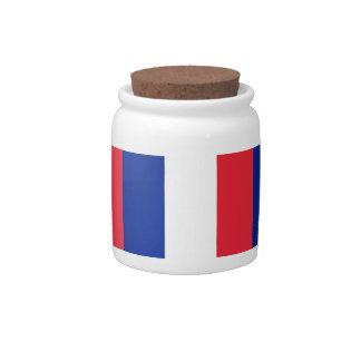 French Flag Candy Jar