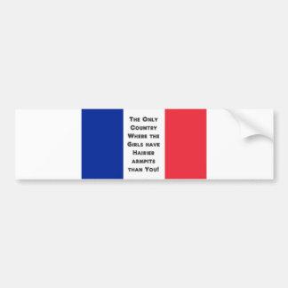 French Flag Car Bumper Sticker