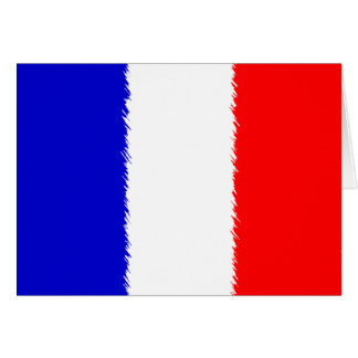 French Flag Stationery Note Card