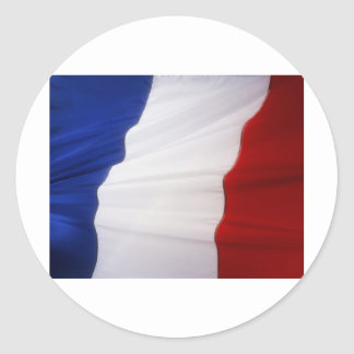 French Flag Classic Round Sticker