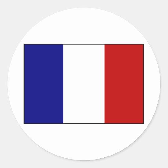 LARGE FRANCE FLAG EURO OVAL STICKER