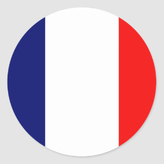 French Flag Classic Round Sticker