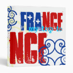 French Flag Colors Red White Blue 3 Ring Binders