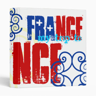 French Flag Colors Red White Blue Binder