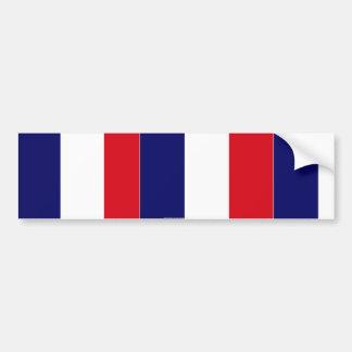 French flag colours bumper sticker car bumper sticker