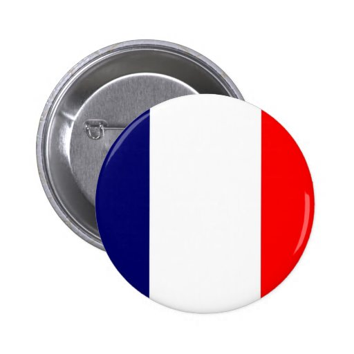 French Flag Design - OUI ! Pinback Buttons