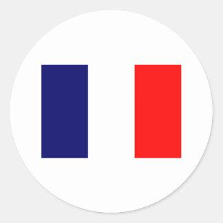 French Flag Design - OUI ! Classic Round Sticker