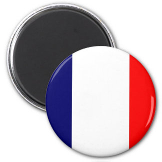 French Flag Design - OUI ! 2 Inch Round Magnet