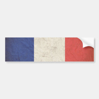 French Flag Distressed Bumper Sticker