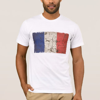 French Flag Distressed T-Shirt