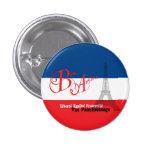 French Flag Eiffel Tower Bon Appetit Pinback Button