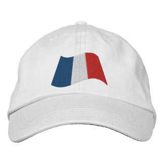 French Flag Embroidered Baseball Cap