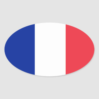 French* Flag European-style Oval Sticker