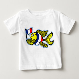 French Flag Fish funny cartoon T-shirt
