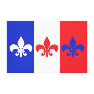 French Flag Fleur de Lis Wrapped Canvas