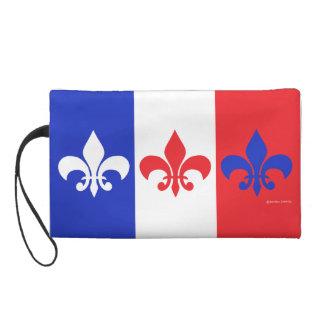 French Flag Fleur de Lis Wristlet