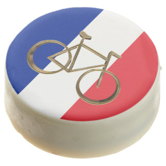 French Flag Golden Bike Bicycle Cycling Cyclist Chocolate Dipped Oreo