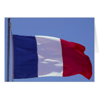 French flag greeting card