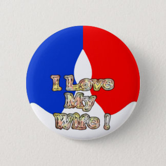 French Flag Hakuna Matata I love My Wife image. Button