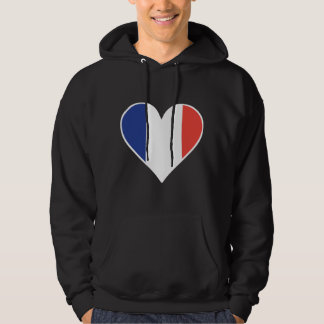 French Flag Heart Hoodie