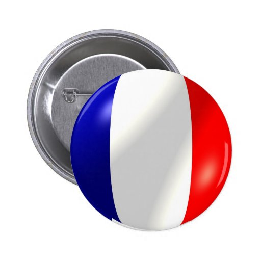 French Flag In Bubble Button