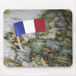 French flag in map mouse pad