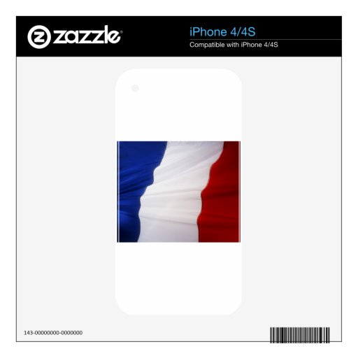 French Flag iPhone 4 Decal