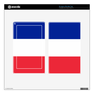 French Flag Kindle Fire Skin