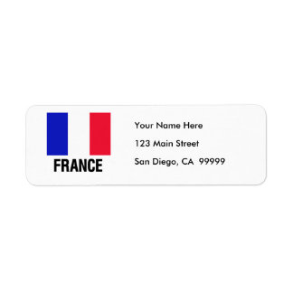 French Flag Label