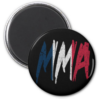 French Flag MMA 2 Inch Round Magnet