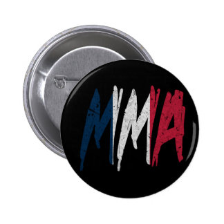 French Flag MMA Pinback Button