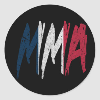 French Flag MMA Round Stickers